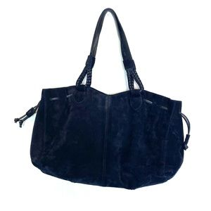 J.Jill Suede Leather Handbag Shoulder Bag Satchel